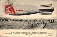 Ballon dirigéable Ville de Paris, appartenant à M. Henry Deutsch, Zeppelin