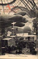 Exposition de l'Aviation au Grand Palais, Zeppelin, Ballon