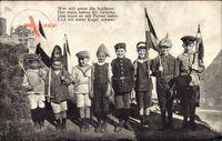 Wer will unter die Soldaten, der muss haben ein Gewehr, Kinder in Uniform