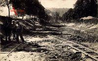Chemin de Fer, Travaux du Train, Gleisleger bei der Arbeit