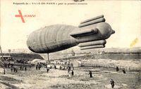 Preparatifs du Ville de Paris pour sa premiere ascension, Zeppelin