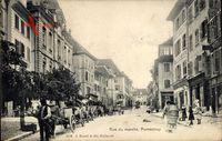 Porrentruy Pruntrut Kt. Jura, Rue de Marche, Passanten, Pferdewagen