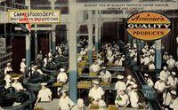 Chicago Illinois USA, Canned Foods Dept. Fabrikarbeiter bei der Arbeit