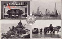 Whitstable South East England, Austernfischer bei der Arbeit, Pferdefuhrwerk