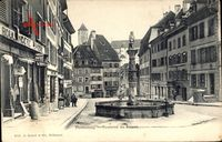 Porrentruy Pruntrut Kt. Jura, Fontaine du Suisse, Brunnen, Boulangerie