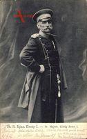König Peter I. Karadjordjevic von Jugoslawien,Portrait in Uniform,Schirmmütze