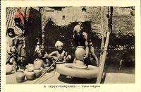 Indes Francaises, Potier indigène, Indischer Töpfer bei der Arbeit