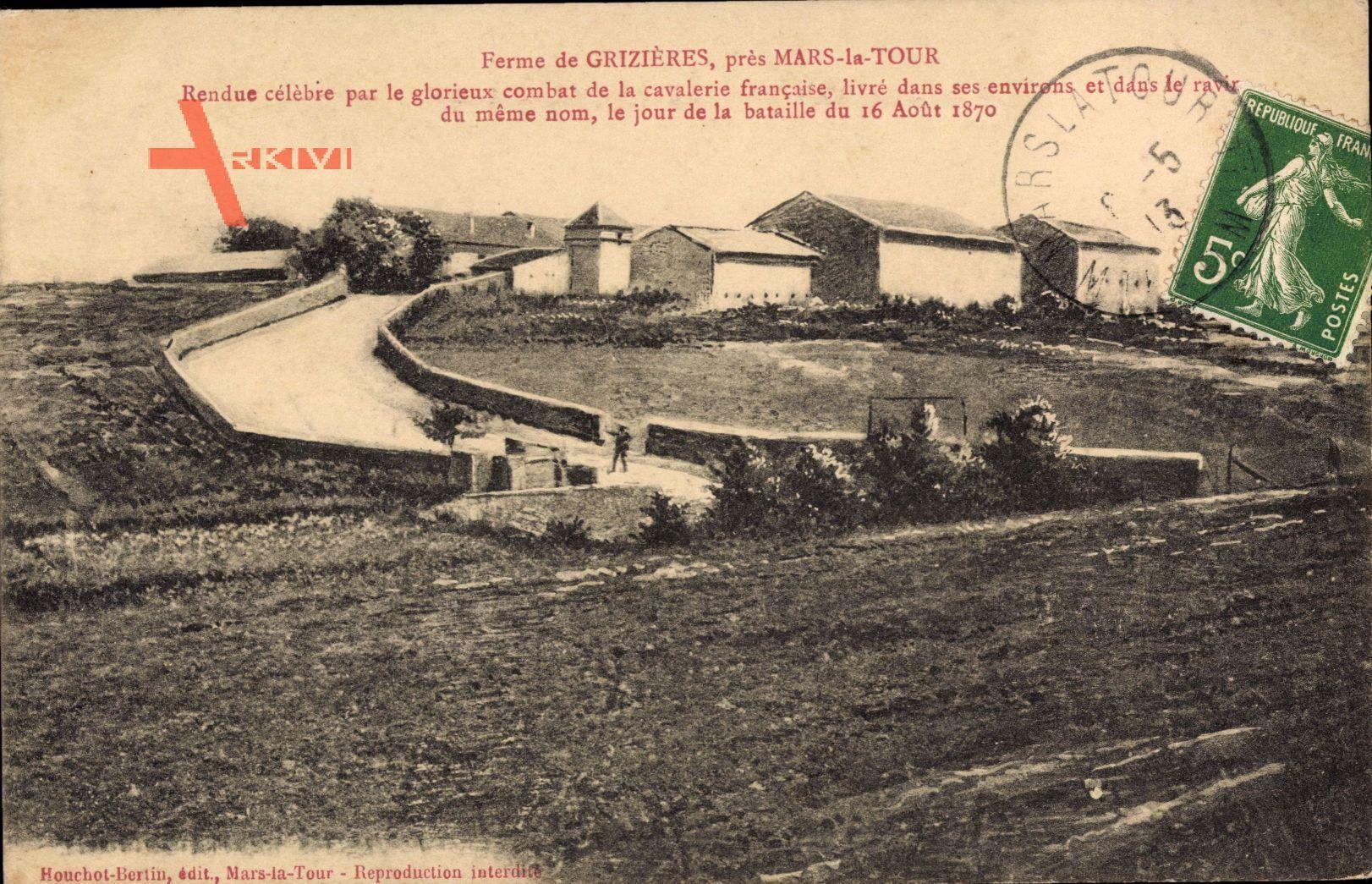 Grizieres Meurthe et Moselle, Ferme, Rendue celebre par le combat 16.08.1870