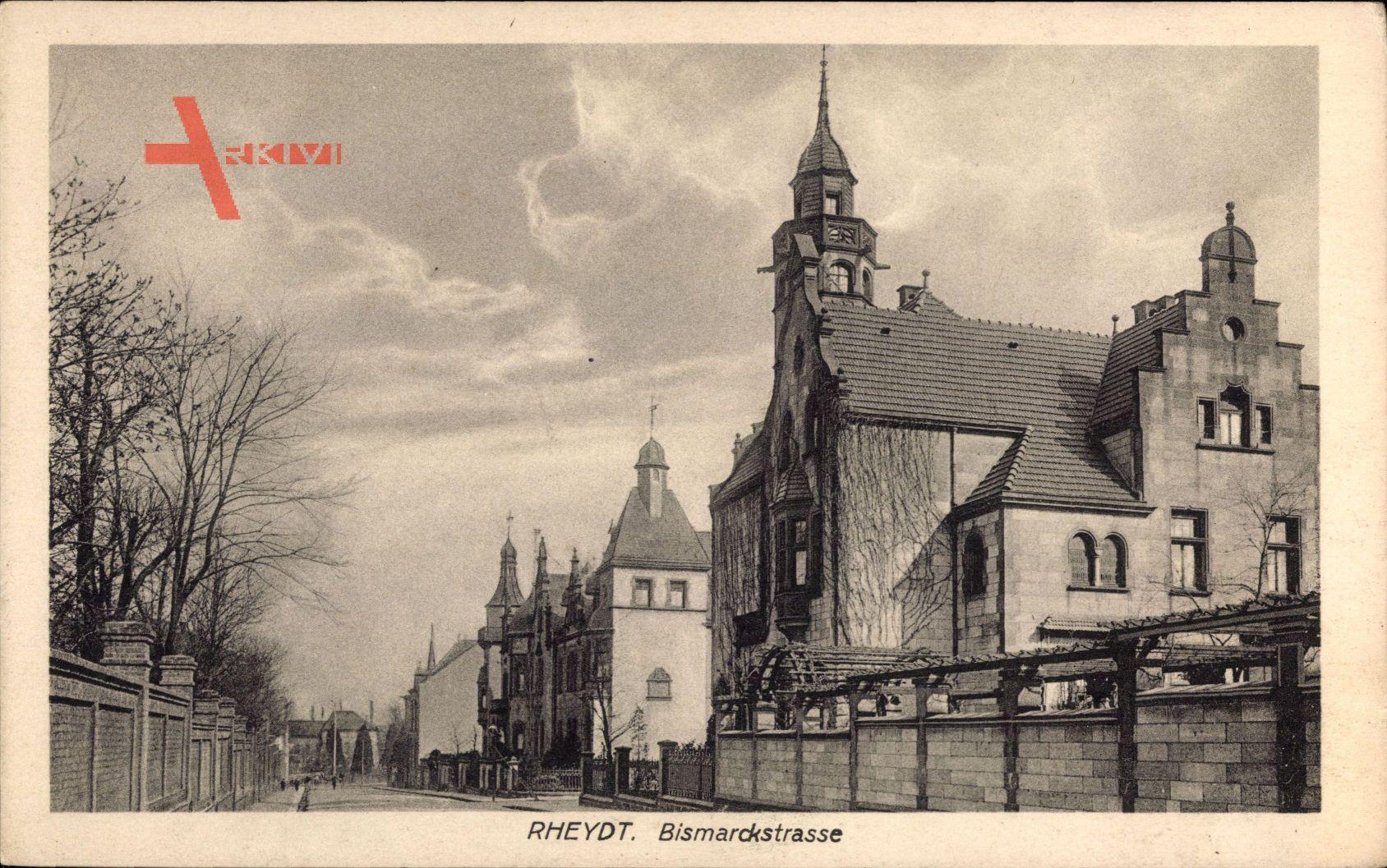Bismarckstraße Mönchengladbach mönchengladbach rheydt blick in die bismarckstraße rankenbewuchs