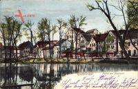 Partie am Pörzteich in Rudolstadt in Thüringen im Frühling um 1902