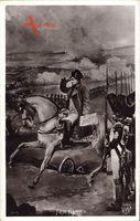 Friedland, Napoleon Bonaparte auf seinem Pferd, Schlacht