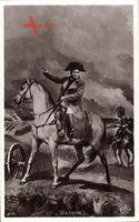 Wagram, Napoleon Bonaparte als Heerführer auf seinem Pferd