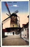 Xanten Nordrhein Westfalen, Alte Windmühle, Straßenpartie