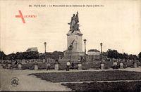 Puteaux Hauts de Seine, Le Monument de la Défense de Paris 1870