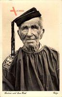 Bauer aus dem Ries, Alter Mann in Tracht, Mantel, Hut