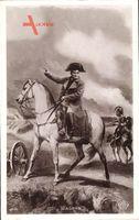 Napoleon auf weißem Pferd, Wagram, Schlachtfeld