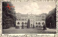 Itzehoe in Schleswig Holstein, Blick auf Schloss Heiligenstedten, Parkpartie