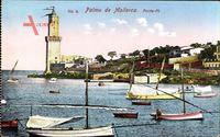 Palma Mallorca Balearische Inseln, Porto Pi, Leuchtturm, Hafen, Boote