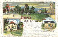 Berlin Tempelhof Marienfelde, Hortenstein, Militär Bahnhof, Dorfstraße