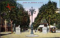 Palma de Mallorca Balearische Inseln, El Borne, Straßenlaterne, Statuen
