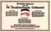 Passepartout Deutsche Frauen euch ruft die Deutschnationale Volkspartei, DNVP