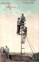 Berliner Typen, Hoch in den Lüften, Telefontechniker, Telefonmast