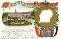 Wappen Karlsruhe, Großherzog Friedrich v. Baden, Schloss, Park