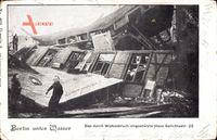 Berlin Wedding, Wolkenbruch, Eingestürztes Haus Gerichtsstraße 23