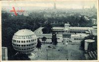 Dresden, Jahresschau Deutscher Arbeit, Teilgelände mit Kugelhaus, Stengel