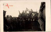 Aschersleben, Frontsoldatenzug Mai 1925, Pfarrer, Fahnen