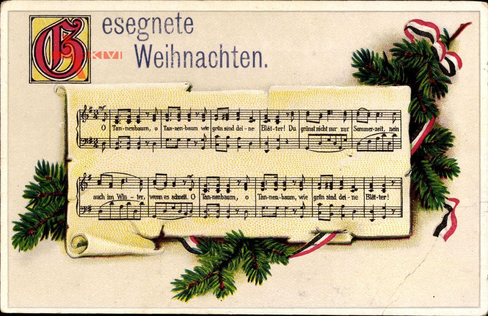 Tannenbaum Lied.Lied Frohe Weihnachten Tannenzweig O Tannenbaum Eas K 1195 6