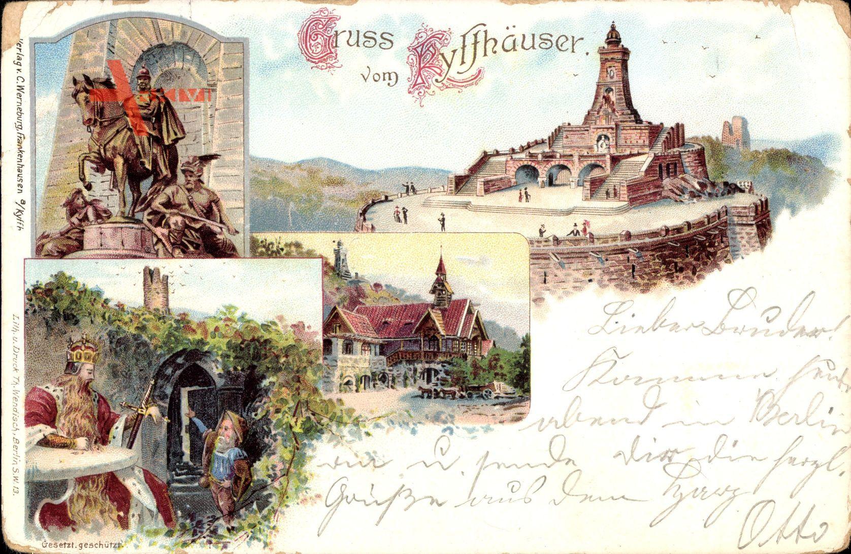 Steinthaleben Thüringen, Kyffhäuserdenkmal, Barbarossa