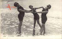 A la mer, Plaisirs du Bain, Frauen in Badekleidern im Wasser