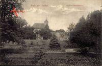 Itzehoe in Schleswig Holstein, Blick vom Park auf das Schloss Breitenburg