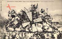 Nice Nizza Alpes Maritimes, Carnaval 1909, Char de la Belle Meuniere