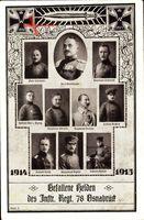 Regiment Osnabrück, Gefallene Helden des Inftr. Regt. 8, Oberst Wimtelhausen