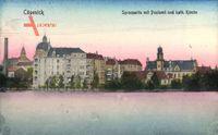Berlin Köpenick, Spreepartie mit Postamt und katholischer Kirche