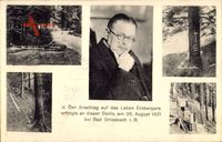 Bad Griesbach Peterstal Breisgau, Matthias Erzberger, Ort der Ermordung 1921