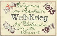 Glitzer Erster Weltkrieg, 1914 bis 1917, Erinnerung an Frankreich