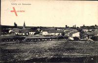 Ivoiry Jura, Blick auf den Ort von Südwesten, Felder, Kirchturm