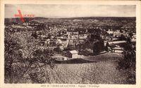Lons le Saunier Jura, Depuis l'Ermitage, Blick auf den Ort, Felder