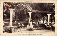 Port Lesney Jura, Grand Hotel du Parc, la Terrasse et le Tennis