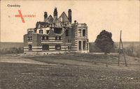 Chambley Meurthe et Moselle, Zerstörte Villa, Erster Weltkrieg