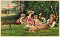 Glückwunsch Pfingsten, Picknick im Freien