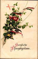 Glückwunsch Pfingsten, Fahnen der Verbündeten, Türkei, Bulgarien