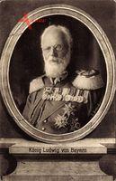 König Ludwig III. von Bayern, Portrait, Uniform, Orden