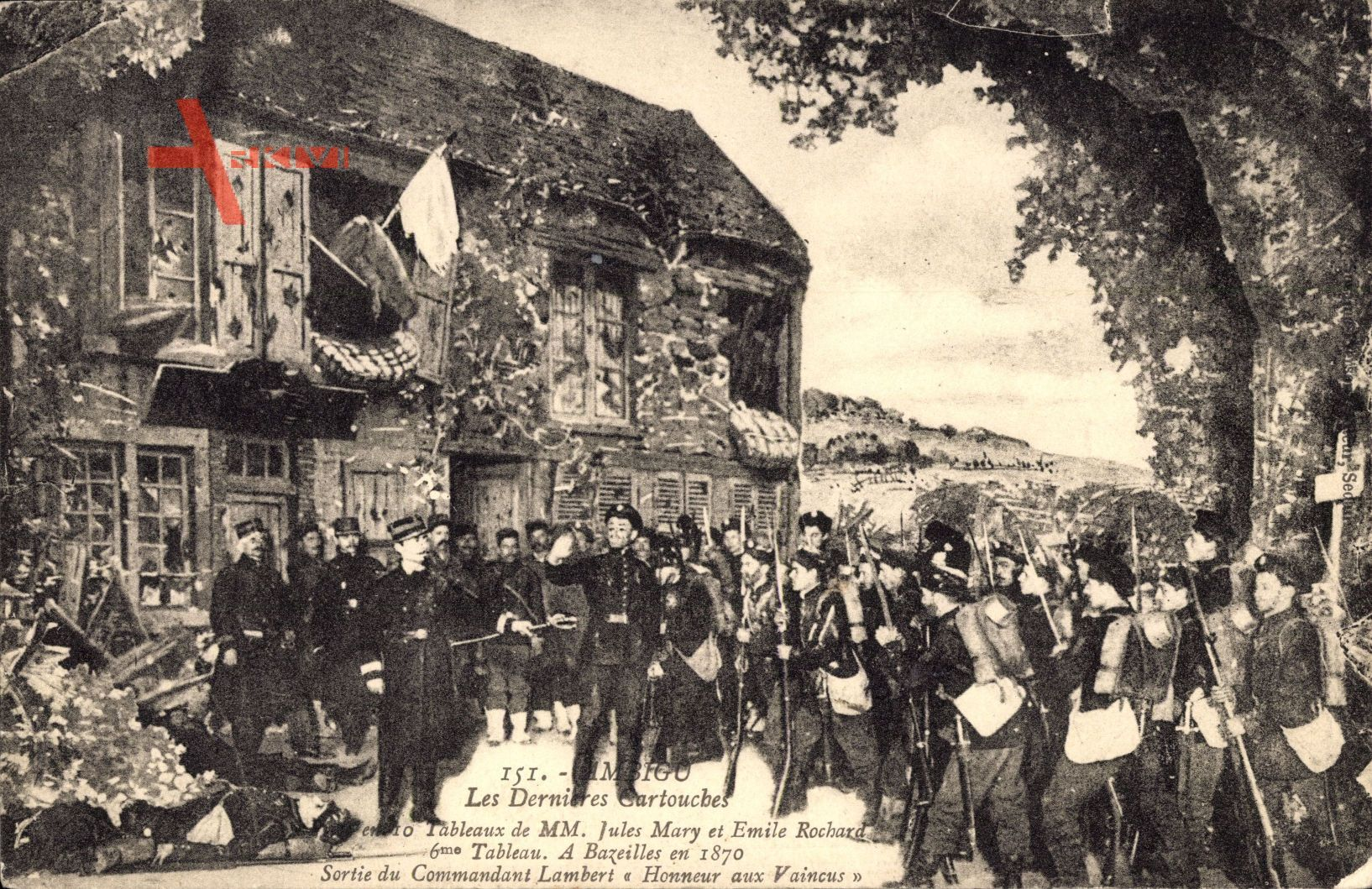 Les Dernieres Cartouches, Ambigo, Die letzten Patronen, Kampf um Bazeilles