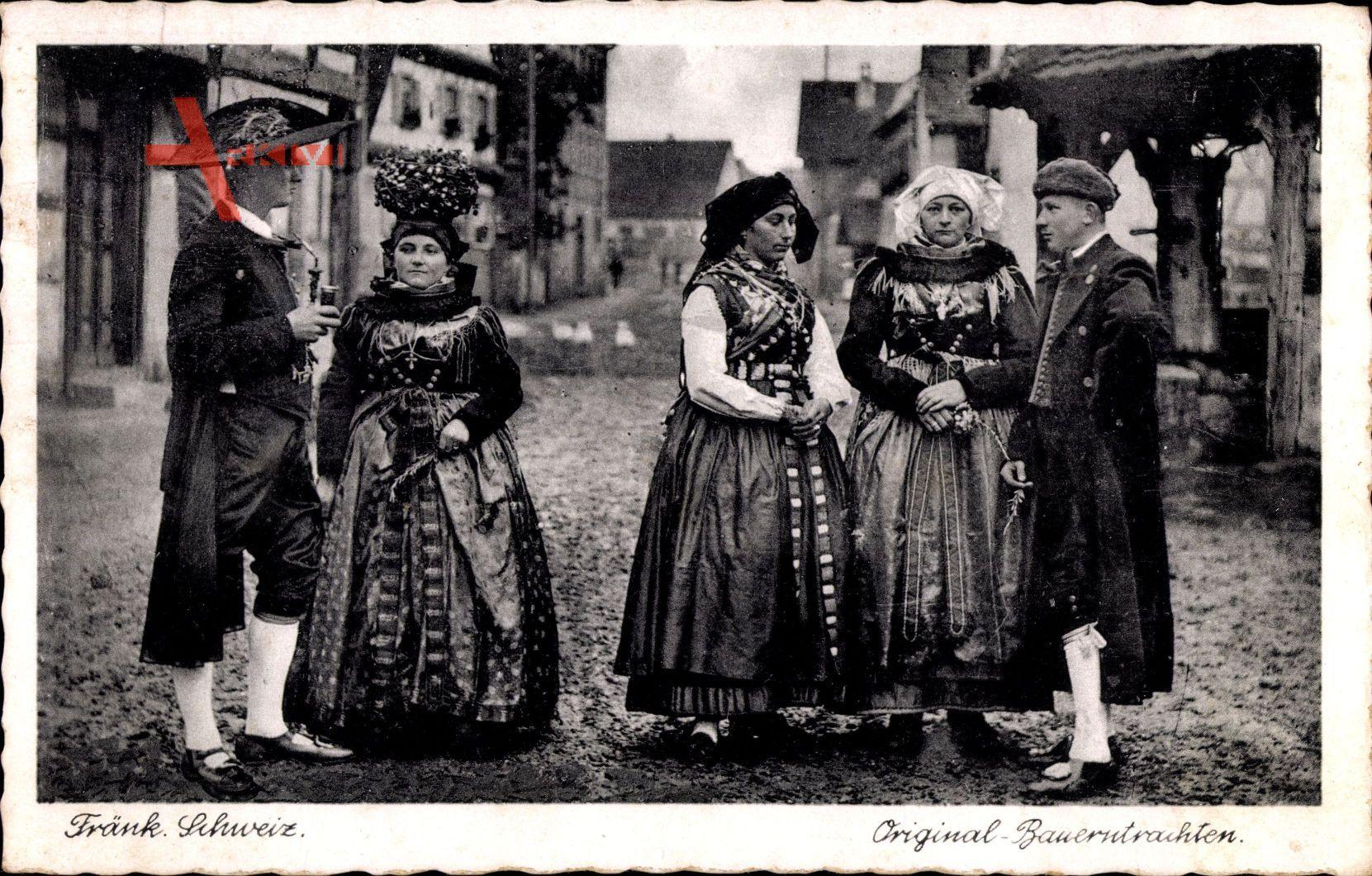 Fränkische Schweiz, Original Bauerntrachten, Frauen, Männer