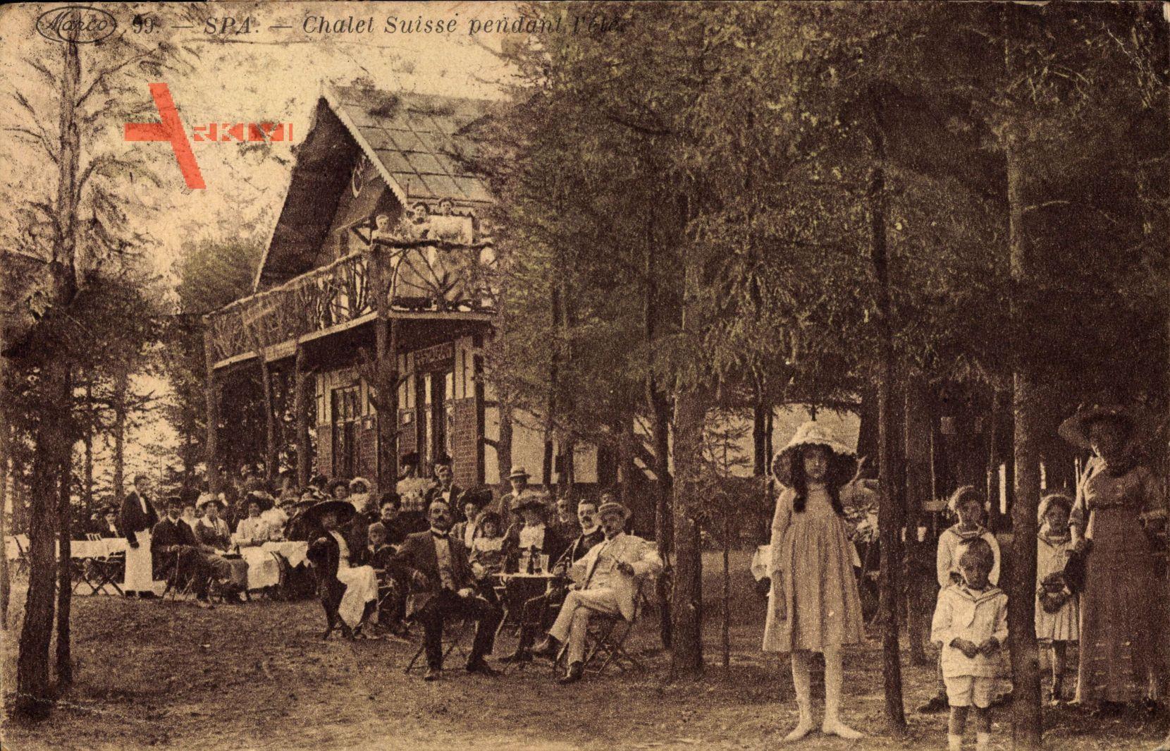 Spa Wallonien Lüttich, Chalet Suisse pendant l'été, Herbst, Schweizerhaus