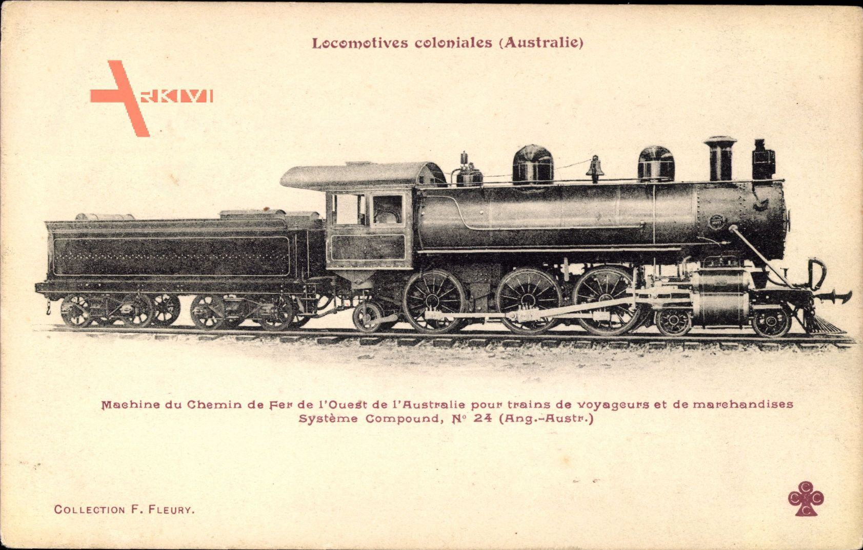 Locomotives coloniales, Australie, Ouest, Compound, No 24